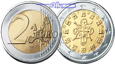 2 Euro 2002 Portugal Kursmünze 2 Euro Stgl Ma Shops