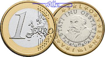 1 Euro 2007 Slowenien Kursmünze 1 Euro Stgl Ma Shops