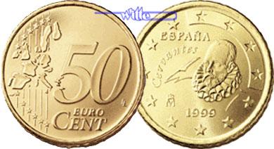 50 Cent 1999 Spanien Kursmünze 50 Cent Stgl Ma Shops