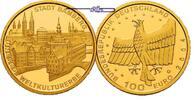 Deutschland 100 Euro  15,55g  fein  28 mm Ø Stadt Bamberg, Prägestätte A