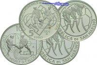 San Marino 5+10 Euro Fußball WM 2006, 5+10 Euro (2 Stck.)