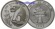 China 10 Yuan Panda Bären, 1 oz, Silber