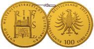 Deutschland 100 Euro  15,55g  fein  28 mm Ø Stadt Quedlinburg, Prägestätte A