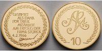 Deutschland 11,48g  fein  22 mm Ø Medaille in Gold - Firma Storck Treuemedaille