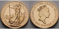 Grossbritannien 1 oz.   31, 1g  fein  32, 69 mm Ø Britannia, Rotgold, -Nathan- 1987 - 1989, 1. Jahrgang