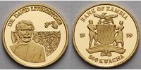 Sambia 500 Kwacha 1,24 g fein  13,92 mm Ø Entdecker der Welt - David Livingstone 1813 - 1873, inkl. Kapsel mit Zertifikat