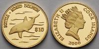 Cook Inseln 10 Dollar 1,24g fein 13,92 mm Ø Delphin, inkl. Kapsel und MDM-Zertifikat