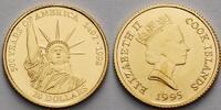Cook Inseln 20 Dollar 1,24g fein 14 mm Ø Freiheitsstatue, inkl. Kapsel und MDM-Zertifikat
