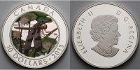 Kanada 10 $ Libelle 1(Pulchela) m. farbiger Applikationen, inkl. Etui & Zertifikat & Schuber