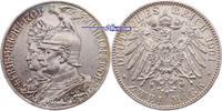 Preussen, 2 Mark Wilhelm II  1888-1918, zum 200jährigem Bestehen des Königreiches, J.105