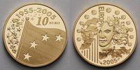 10 Euro, 7,78g fein22 mm Ø 2005 Frankreich 50 Jahre Europaflagge - Euro... 375,00 EUR  zzgl. 5,00 EUR Versand