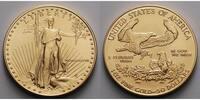 USA 1 oz.   31,1g  fein  32 mm Ø Liberty, Gold ohne Münzzeichen, römische Jahreszahl, 1988