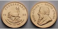 Süd Afrika 1 oz  31,1g  fein  32,69 mm Ø Krügerrand 1 oz. - Springbock, 1982 seltener Jahrgang