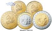 Monaco 10 Cent -2 Euro, 3,80 Kursmünzen,  Satz 2003