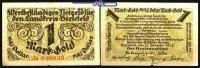 Bielefeld, Papier 1 Mark-Gold = 10/42 Dollar Landkreis, mit KN,  Topp 77.10