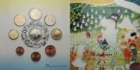Finnland 5,88 Kursmünzensatz / 2. Ausgabe + Medaille Tove Jansson -Little my Snufkin-