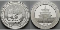 China 10 Yuan Panda Bären 1 oz,Silber,-30.Jahrestag Ausstellung der chin.modernen Edelm.Münzen