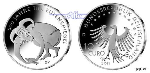10 Eurobr 2011 Deutschland 500 Jahre Till Eulenspiegel 4 Ausg