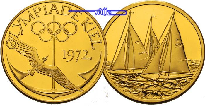 2920g Fein 34mm ø 1972 Deutschland Medaille In Gold Olympiade