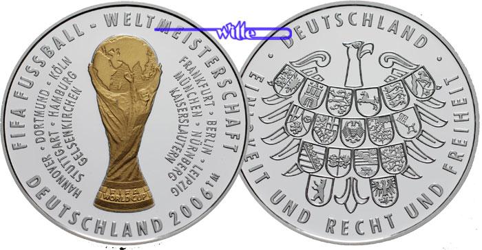 2006 Deutschland Medaille Zur Fußball Wm In Deutschland 2006 Mit