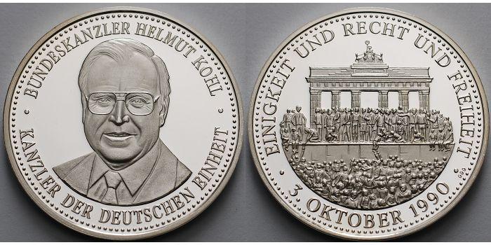3004g Fein 40mm ø 1990 Deutschland Medaille Zum 3 Oktober 1990