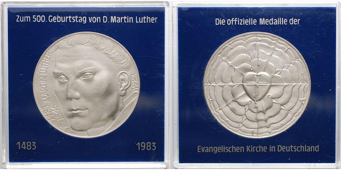 3505g Roh 40mm ø 1983 Deutschland Medaille In Silber Zum 500
