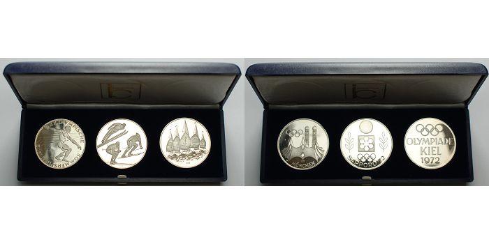 4551g Fein Je 35mm ø 1972 Deutschland 3 Medaillen In Silber