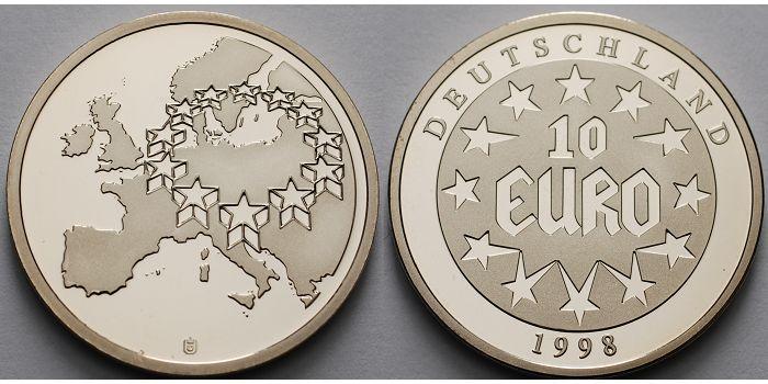Medaille115groh30mm ø 1998 Deutschland Medaille 10 Euro Die Ersten