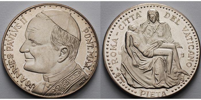 1548g Roh35mm ø Italien Vatikan Medaille Johannes Paul Ii Pont