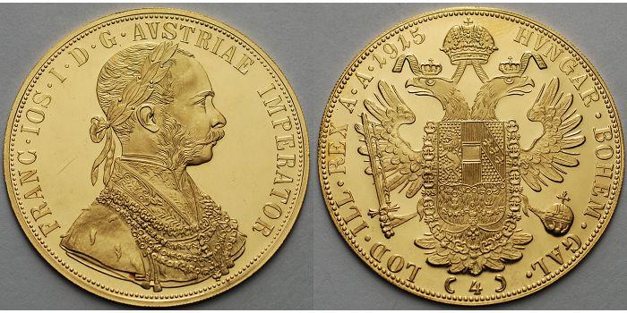 4 Dukaten 1380g Fein395 Mm ø 1915 österreich Franz Joseph I Amtl