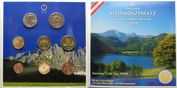 388 2009 österreich Kursmünzensatz Mit Der 2 Euro Gedenkmünze 10