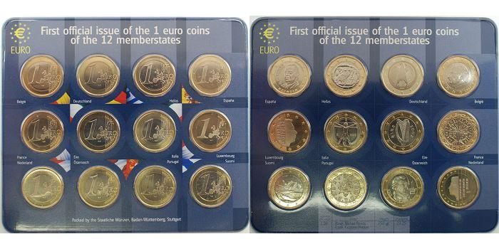 12 Euro 1999 2002 Euroländer Kursmünzensatz Von Der Staatliche Münze