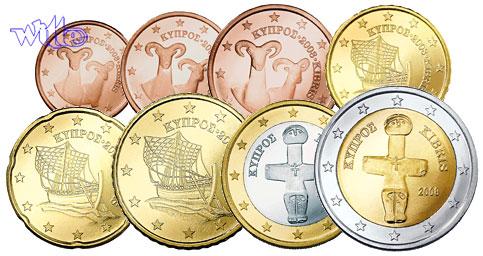 1 Cent 2 Euro 388 Mixsatz2008 Zypern Preiswerte Zusammenstellung