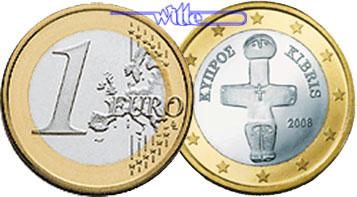1 Euro 2008 Zypern Kursmünze 1 Euro Stgl Ma Shops