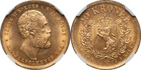 Norway 20 Kroner Norway 1902 Oscar II gold 20 Kroner NGC MS-65