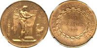 France 100 Francs France 1909-A Republic Gold 100 Francs NGC MS-63
