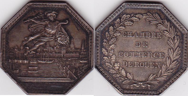 medaille 1845 1860 frankreich silbermedaille handelskammer rouen chambre de commerce de rouen. Black Bedroom Furniture Sets. Home Design Ideas