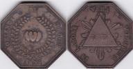 Frankreich Jeton Token Freimaurermedaille Silber Melun LOGE DES COEURS UNIS 1825