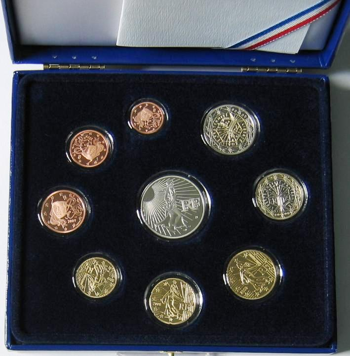 18,88€ 2009 Frankreich Original Kursmünzensatz PP