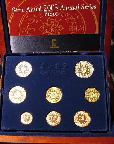 3,88 € 2003 Portugal Original Kursmünzensatz PP