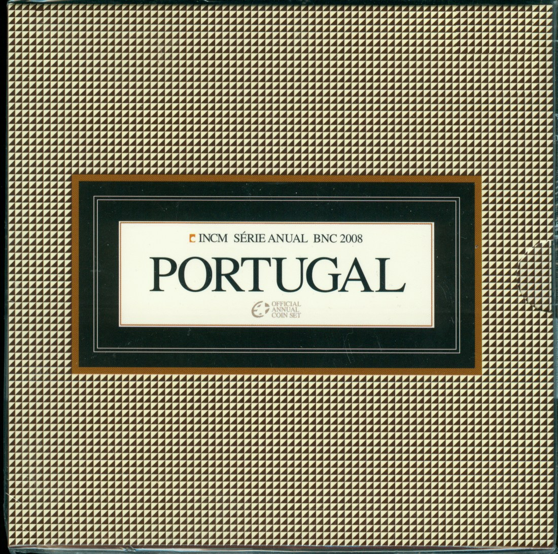 3,88€ 2008 Portugal Original Kursmünzensatz stgl