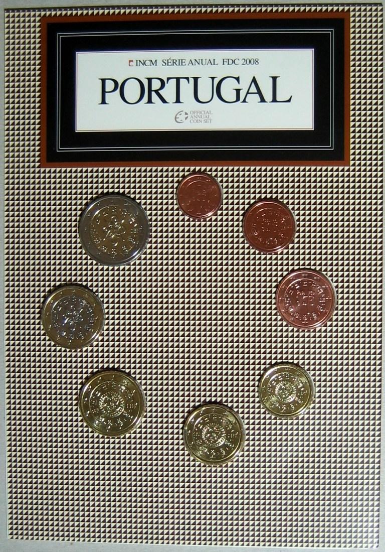 3,88€ 2008 Portugal Original Kursmünzensatz FDC