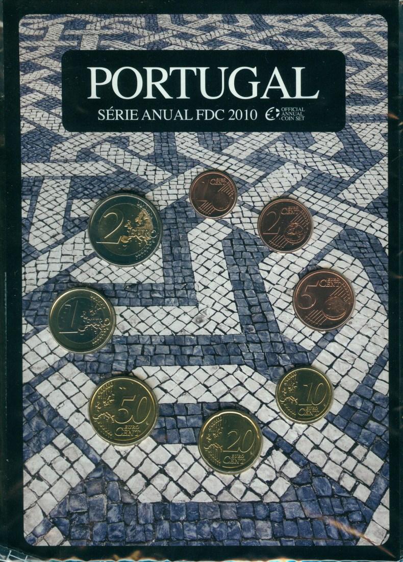 3,88€ 2010 Portugal Original Kursmünzensatz FDC