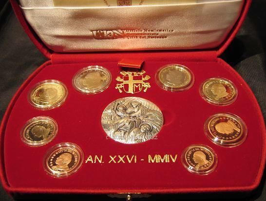 3,88€ 2004 Vatikan Original Kursmünzensatz PP