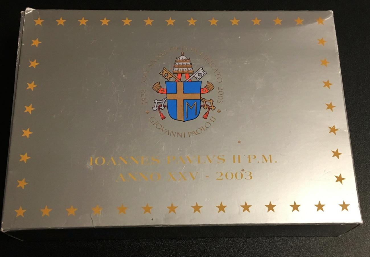 3,88€ 2003 Vatikan Original Kursmünzensatz PP