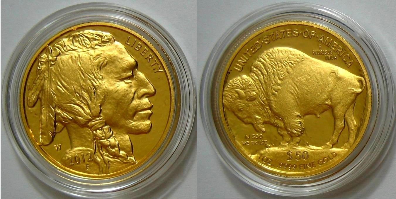 50 Dollar 2012 USA Büffel Double Eagle - Auflage nur ca. 19.700 ! PP