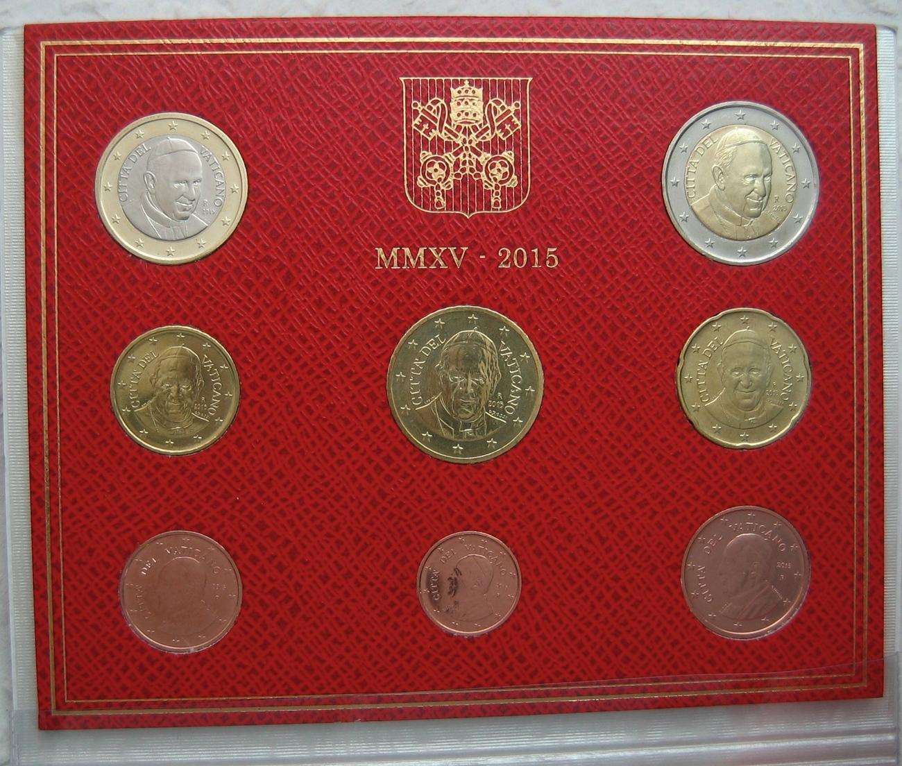 3,88 € 2015 Vatikan Original Kursmünzensatz stgl