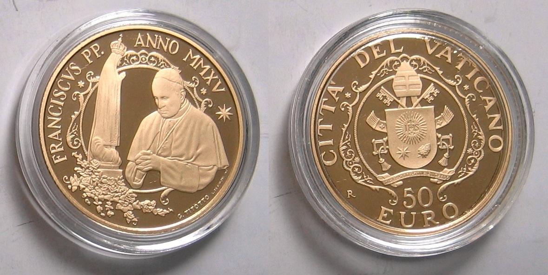 """53,88€ 2015 Vatikan Original Kursmünzensatz mit Goldmünze """"Papst Franziskus MMXV"""" PP"""