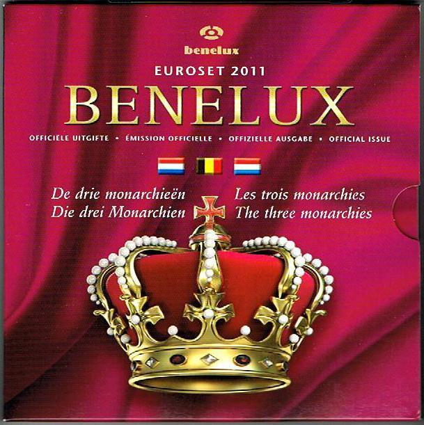 11,64 € 2011 BeNeLux Original Kursmünzensatz stgl