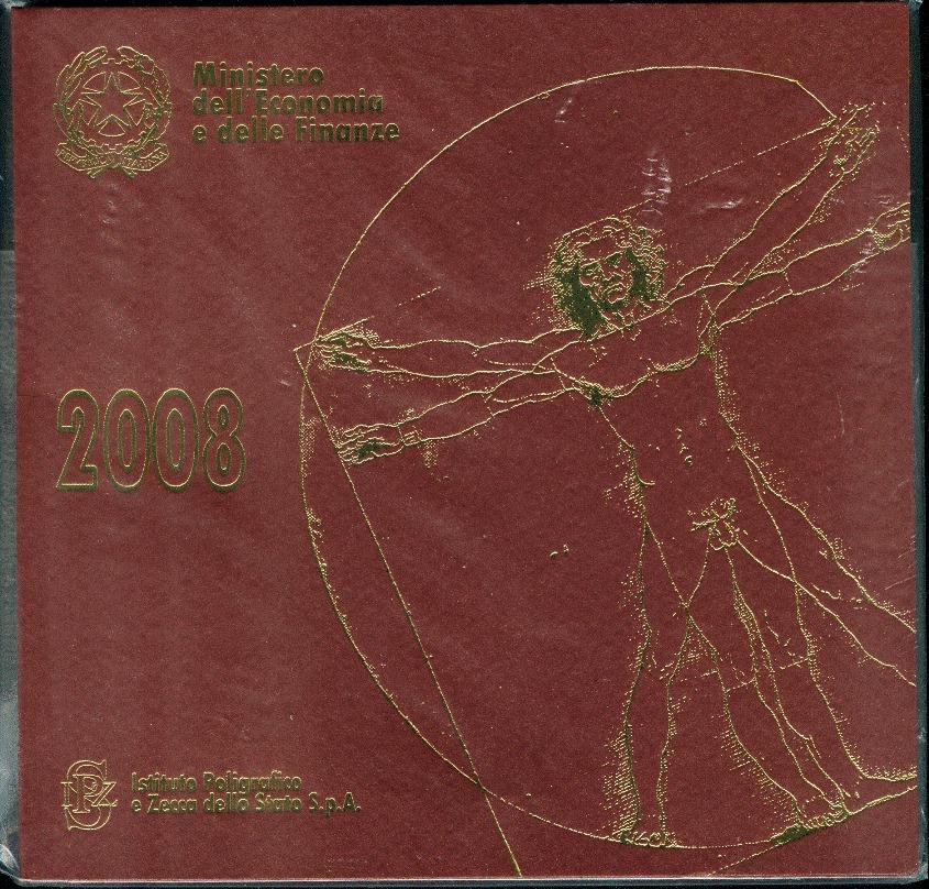 3,88€ 2008 Italien Original Kursmünzensatz stgl